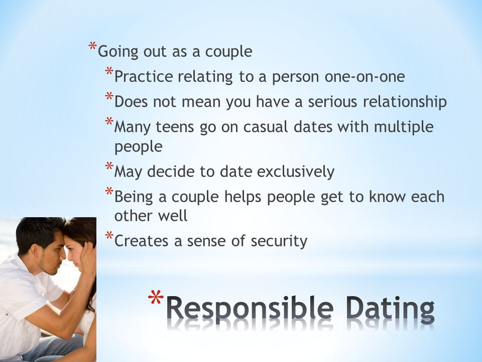 dating is exclusively what mean