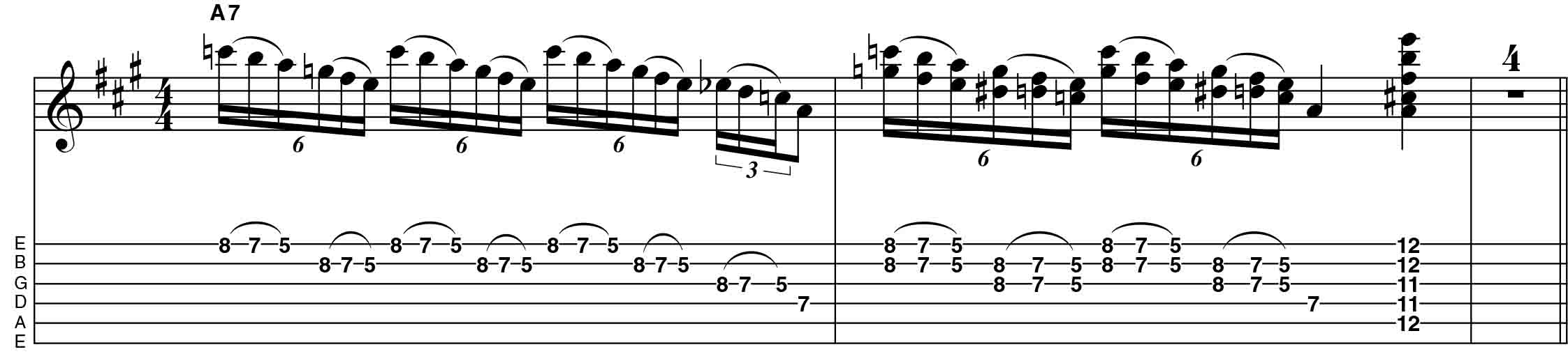 guitar lick from