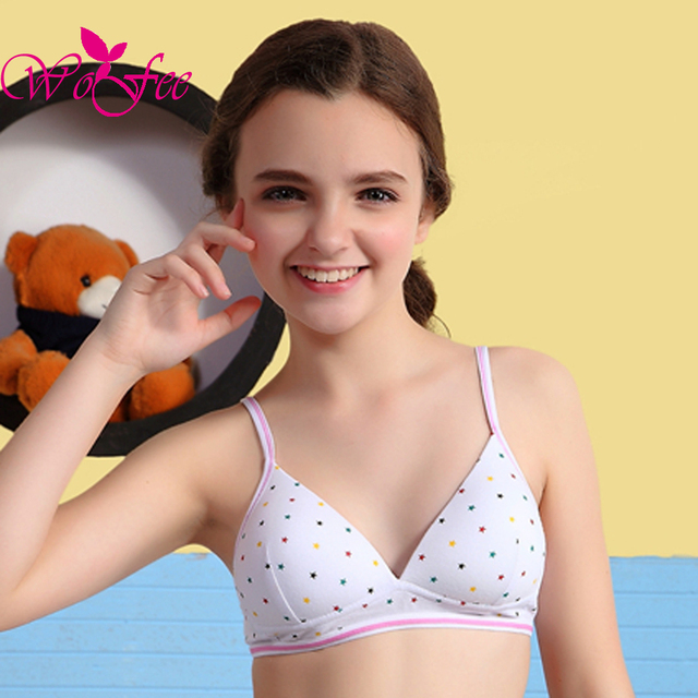 on without girls bras
