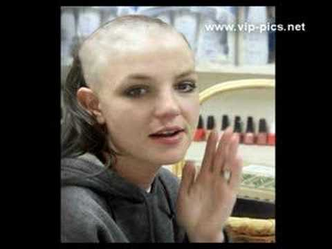 britney her spear head off shaved