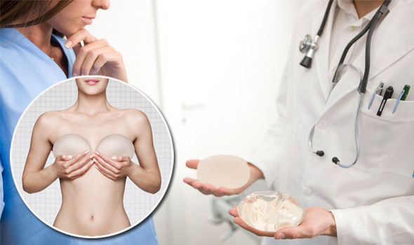 silicone breast implants back