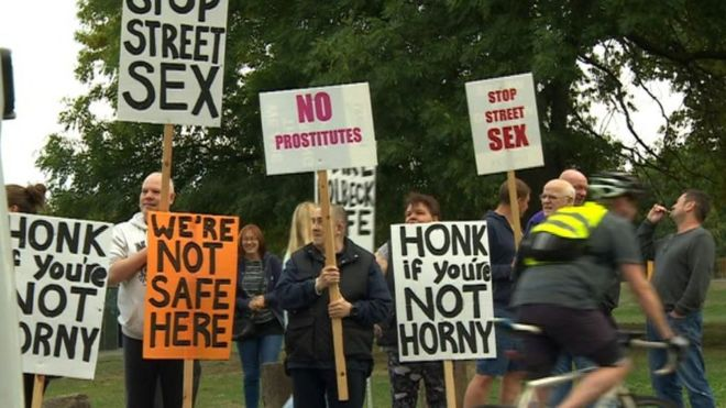 protesters sex street on having